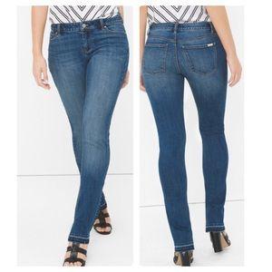 Curvy Release Hem Slim Jeans